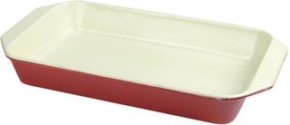 Chasseur Ugnsform i Gjutjärn Rektangulär 33,5cmRöd
