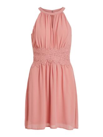 VILA Halterneck Short Dress Women Pink