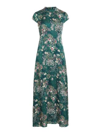 VILA Patterned Short Sleeved Dress Women Green