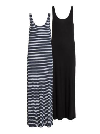 VILA 2-pack Maxi Dress Women Blue