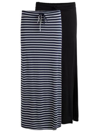 VILA 2-pack Maxi Skirt Women Blue