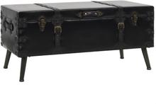 vidaXL Soffbord MDF och stål 102x51x48 cm