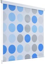 vidaXL Rullgardin för dusch 100x240 cm cirkel