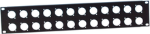 Adam Hall 872214 U-shaped Rack Panel 2 Unit for 24 XLR