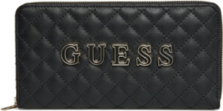 Guess Passion Slg Cheque Org Bags Card Holders & Wallets Wallets Svart GUESS