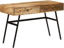 vidaXL Skrivebord med skuffer heltre mango 110x50x76 cm