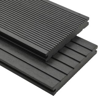 vidaXL massive terrassebrædder med tilbehør WPC 10 m² 2,2 m grå