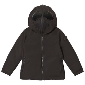 AI Riders on the Storm Black Reversible Down Goggle Hood Jacket 6 years