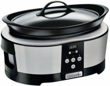 Crock-Pot 5,7 L Slowcooker - Timer, Rostfri