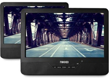 PORTABLE DVD PLAYER WITH 2 MASTER LCD DISPLAYS 9 INCH