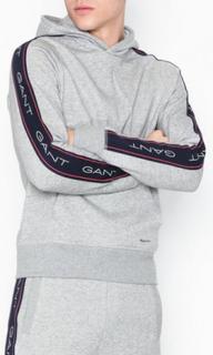 Gant O1.Gant Archive Stripe Sweat Hoodie Tröjor Light Grey Melange