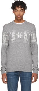 Tiger of Sweden Grey Tiger and Snowflake Leach Pullover