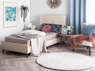 Säng 90 x 200 cm beige AMBASSADOR