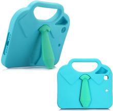 iPad Mini Børne Cover - 3D Slips m. Håndtag - Lyseblå