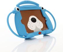iPad Mini 1/2/3/4/5 Børne Cover - 3D Cover m. Hunde Design - Blå