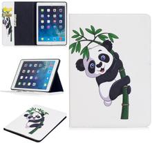 "iPad Air Cover - ""Bamboo Panda"" Cover m. Ståfunktion & Kortholder - Hvid"