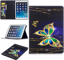 "iPad Air Cover - ""Majestic Butterfly"" Cover m. Ståfunktion & Kortholder - Blå"