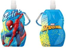 Spiderman Spindelmannen Vikbar Vattenflaska Med Karbinhake 500ml BLÅ
