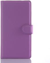 Sony Xperia Z5 Soft Pouch Læder Etui m. Pung Lilla