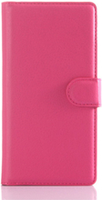 Sony Xperia Z5 Soft Pouch Læder Etui m. Pung Pink