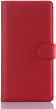 Sony Xperia Z5 Soft Pouch Læder Etui m. Pung Rød