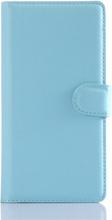 Sony Xperia Z5 Soft Pouch Læder Etui m. Pung Lyseblå