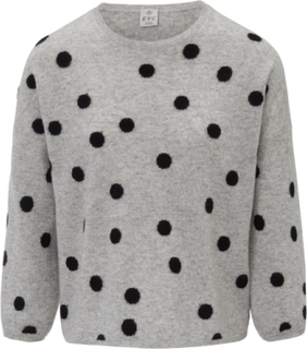 Rundhalsad tröja från FTC Cashmere grå