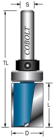 Cobolt 203-114-45L Mallfräs med styrlager