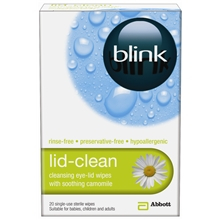 Blink Lid Clean Sterile Eye Lidwipes 20 pc