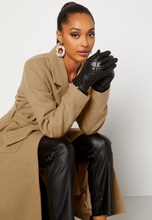 BUBBLEROOM Velma quilted leather gloves Black S