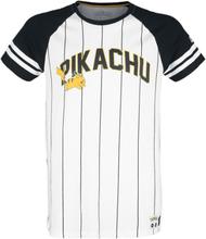 Pokémon - Pikachu - Running -T-skjorte - svart, hvit