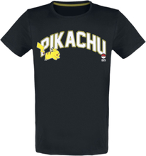 Pokémon - Pikachu - Running -T-skjorte - svart