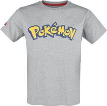 Pokémon - Logo -T-skjorte - gråmelert