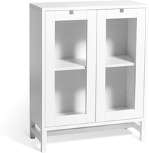 Mavis - Falsterbo Cabinet Glass Doors 90 cm, White Lacquer