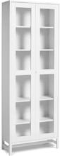 Mavis - Falsterbo Cabinet Glass Doors 190 cm, White Lacquer