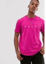 Obey Novel pigment dyed t-shirt in pink - Dusty psychede pink