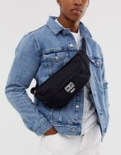 Obey Drop Out sling bag in black - Black