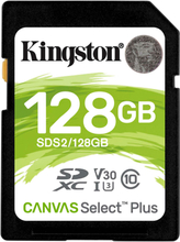Kingston 128GB 100MB/s Canvas Select Plus SDS2 Memory Card