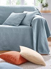 Überwurf für Couch und Bett ca. 160x270cm Peter Hahn blau
