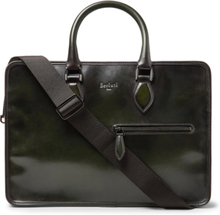 Un Jour Leather Briefcase - Dark green