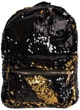 Børnerygsæk - Praktisk taske med pallietter - Sort og guld