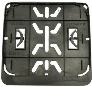 Registreringsskylthållare moped / skoter 14,5 x 12,5 cm