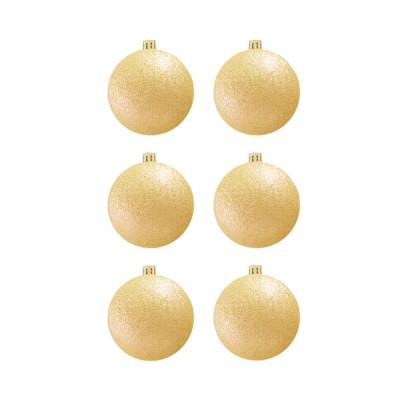 BasicsHome Joulupallo Ornaments Metallinkulta 8 cm 6 kpl