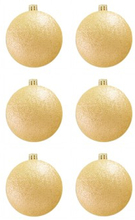 BasicsHome Julekugler Metallic Guld 8 cm 6 stk
