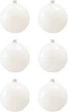 BasicsHome Joulupallo Ornaments Kiiltävän valkoinen 8 cm 6 kpl