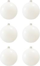 BasicsHome Christmas Ball Ornaments Shiny White 8 cm 6 st