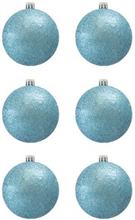 BasicsHome Julekugler Metallic Lyseblå 8 cm 6 stk