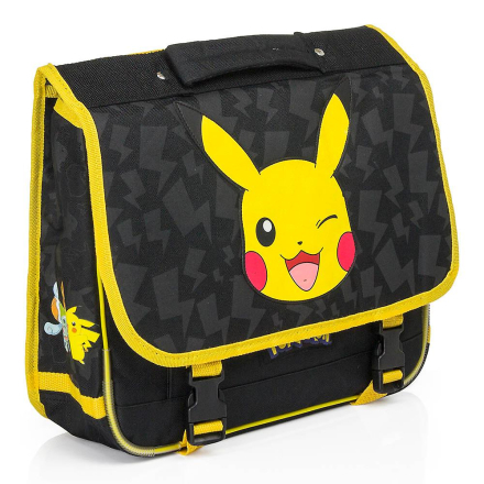 Pokémon Pokemon skoletaske rygsæk 38 x 33 x 12 cm sort/gul - Fruugo