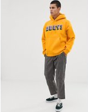 Obey Bean hoodie with chenille logo in yellow - Yellow