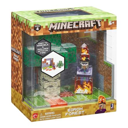 Minecraft Birk skov biom play sætter Action figur sæt serie 4 - Fruugo